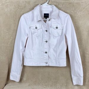 THE LIMITED CREAM COLORED JEAN JACKET  Small